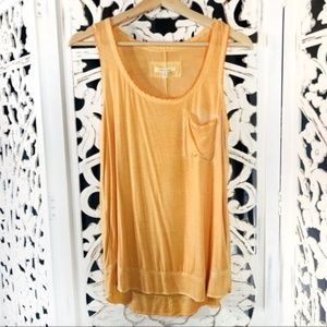 Pure + Good Orange Acid Wash Athletic Tank Top